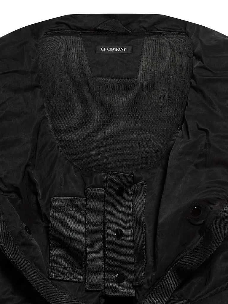 Garment Dyed Nylon Sateen Modular Hood in Black