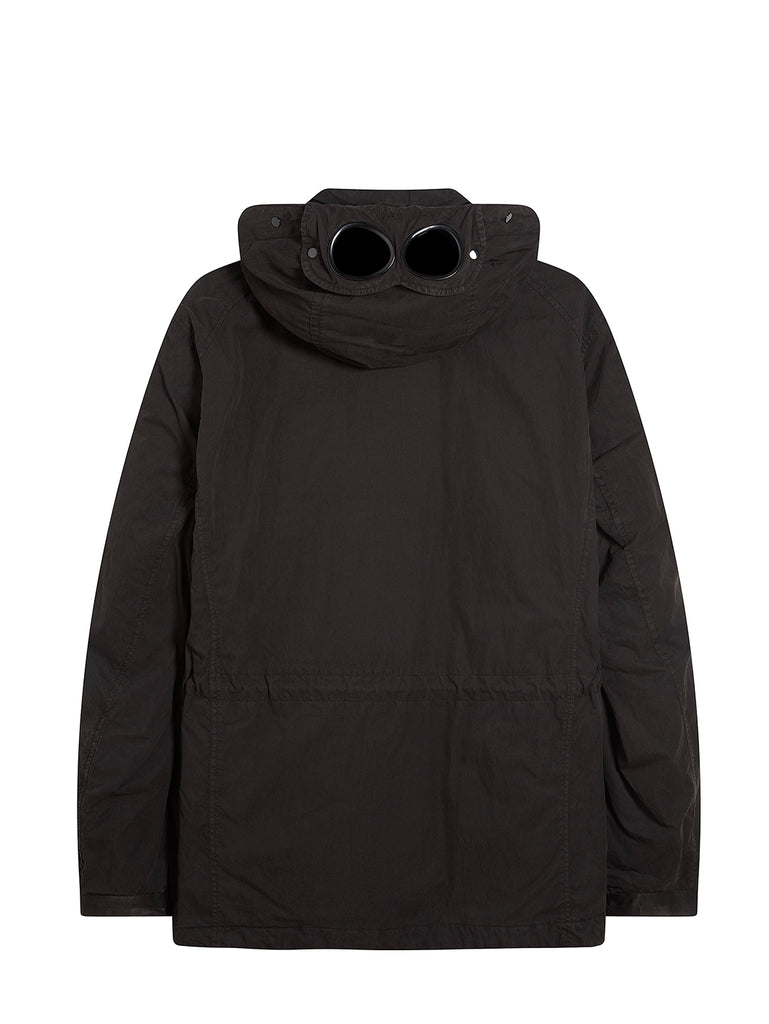 50 Fili Goggle Hood Utility Jacket in Black
