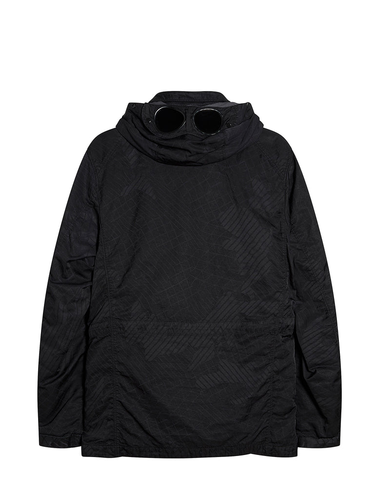 M-Bossed Goggle Hood Utility Jacket in Ebony