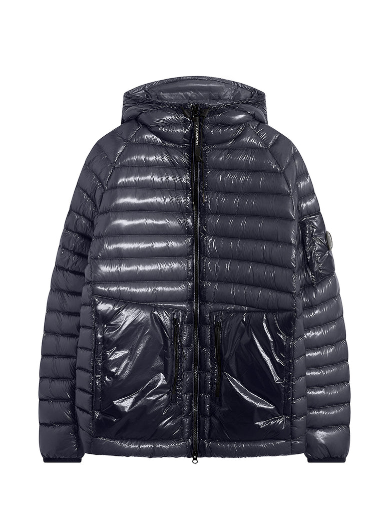 DD Shell Padded Lens Jacket in Ombre Blue