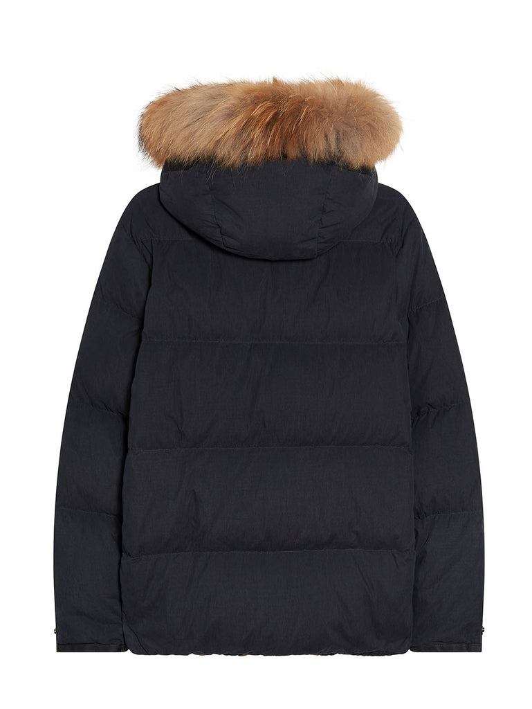 50 Fili Trim Hood Mid Parka in Total Eclipse