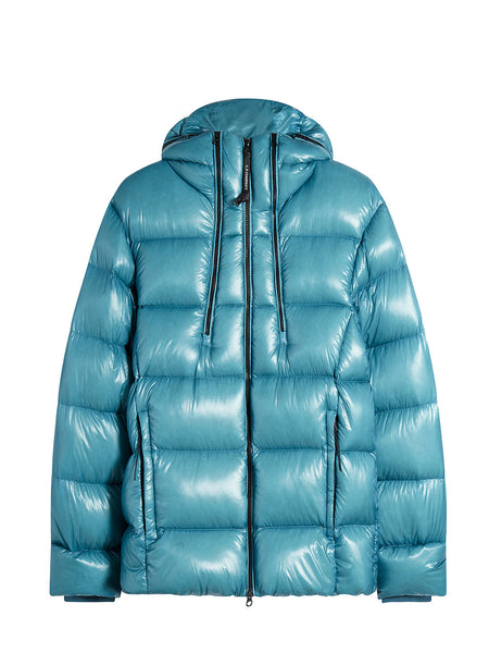 Outline Goggle Puffer Jacket in Bluejay