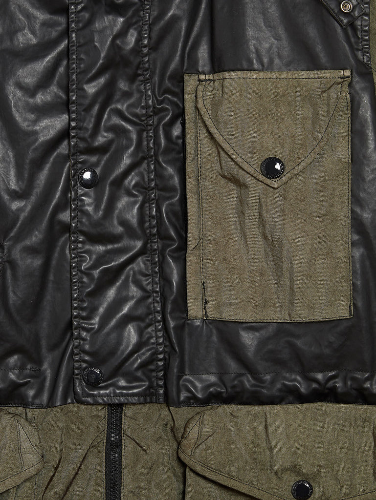 Quartz Contrast Goggle Jacket in Dusty Olive