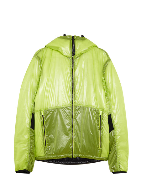 Outline Goggle Jacket in Lime Green