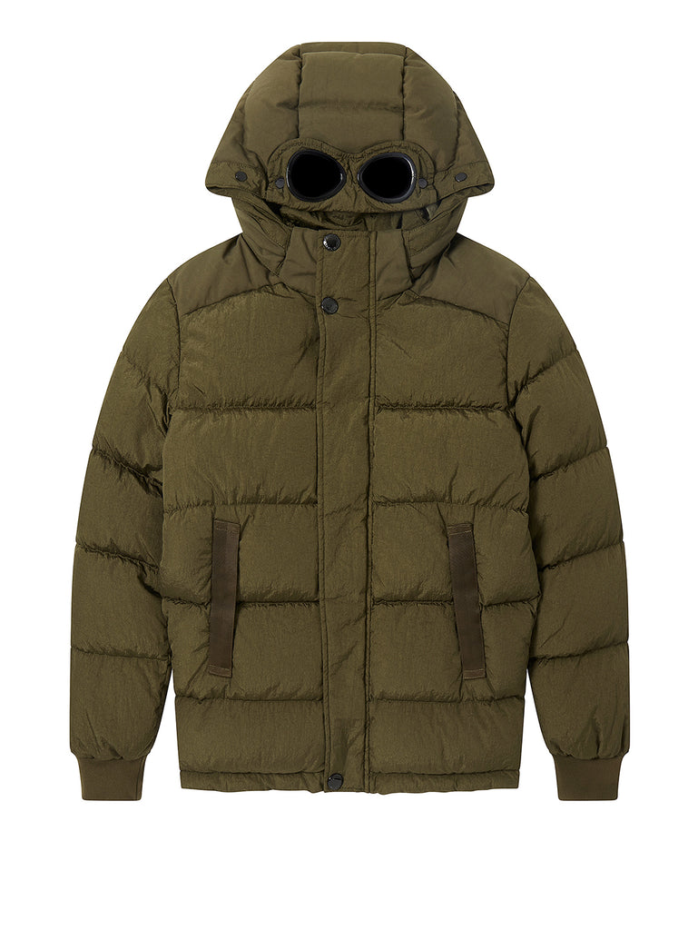 Undersixteen M.T.t.N Garment Dyed Goggle Jacket in Ivy Green