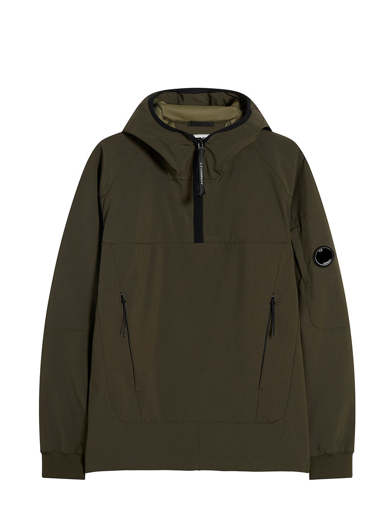 C.P. Shell Quarter Zip Smock in Forest Night
