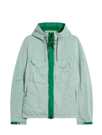 Raso C-P Garment Dyed Goggle Jacket in Frost