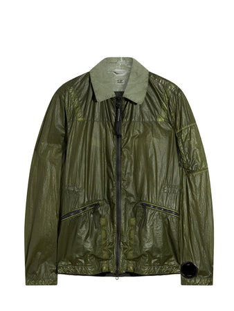 NyBer Special Dyed Lens Collared Jacket in Burnt Olive