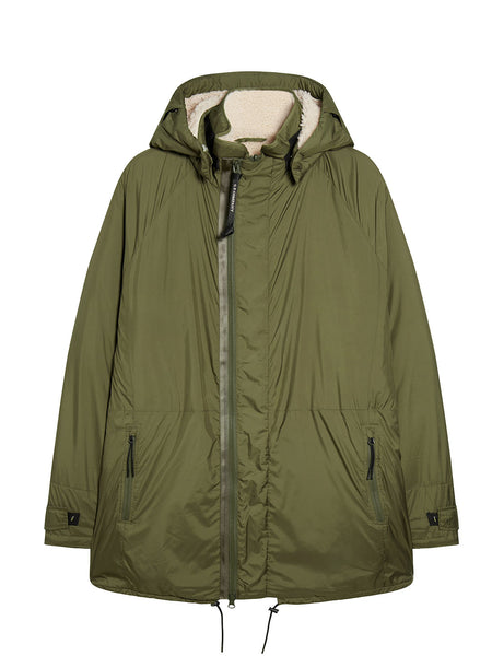 Poly Super Light Reversible Polar Parka in Dusty Olive