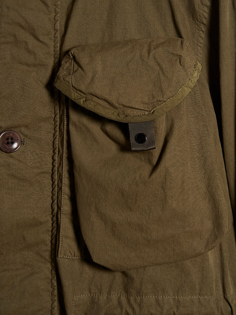 50 Fili Goggle Hood Utility Jacket in Olive Night