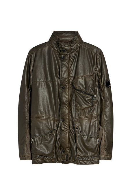 Nyber Special Dyed Utility Jacket in Dusty Olive