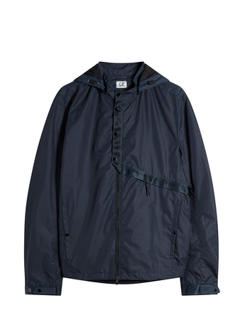 Micro-M Hooded Overshirt in Total Eclipse