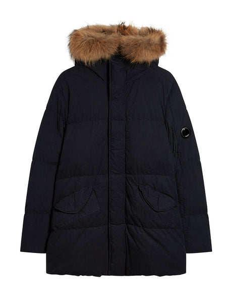 50 Fili Trim Hood Long Parka in Total Eclipse