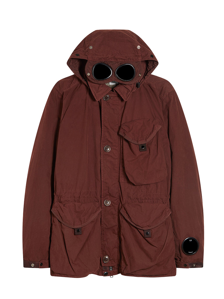 50 Fili Goggle Hood Utility Jacket in Bitter Chocolate