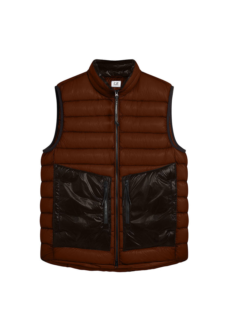 DD Shell Padded Stand Collar Utility Vest in Cinnamon