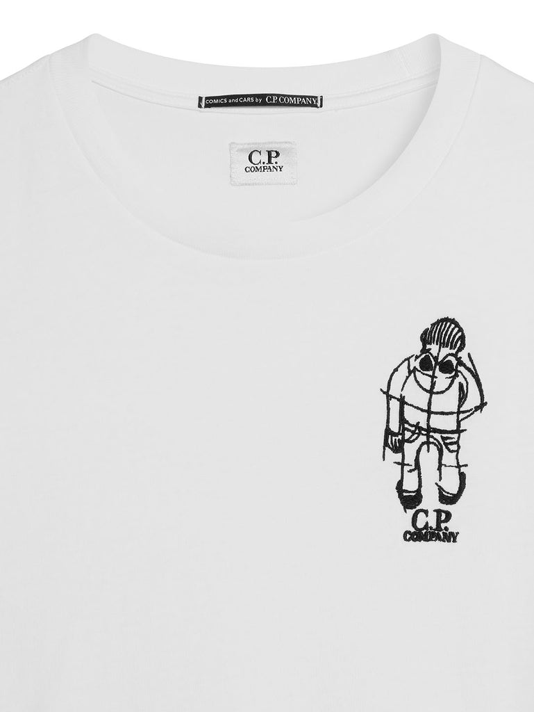 Jersey 20/1 Crew T-Shirt in Gauze White