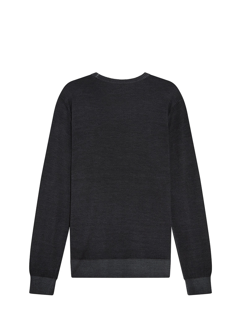 Fast Dyed Merino Sweater in Black
