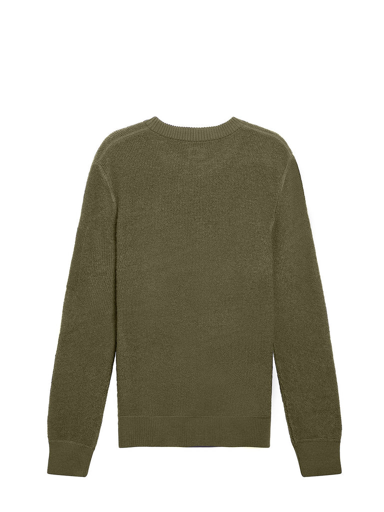 Merino Sponge Crew Neck Lens Sweater in Ivy Green