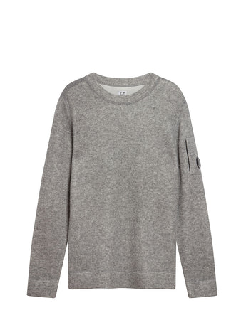 Lambswool Double Fibre Mixed Lens Sweater in Grey Melange