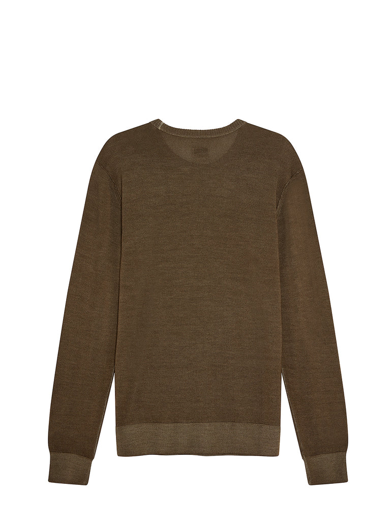 Fast Dyed Merino Sweater in Dusty Olive