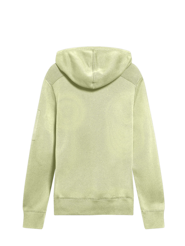 Garment Dyed Knit Lens Hoodie in Oyster Grey