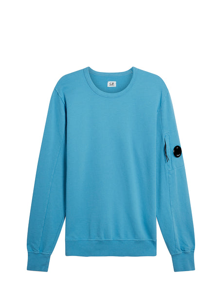 Garment Dyed Light Fleece Lens Crew Sweatshirt in Bluejay