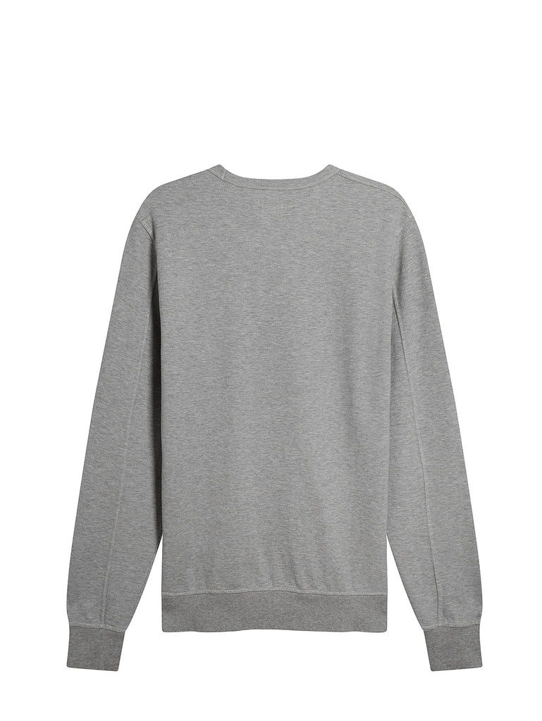 Garment Dyed Light Fleece Lens Crew Sweatshirt in Grey Melange