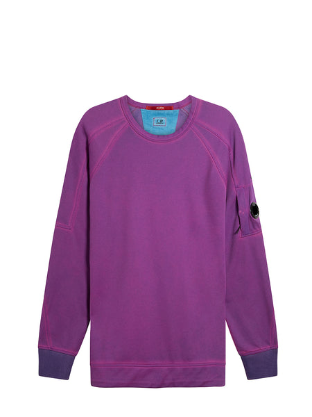 Re-Colour Light Fleece Lens Crew Sweatshirt in Bluejay