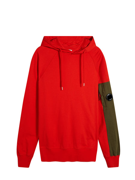 Light Fleece Hooded Sweatshirt in Poinciana