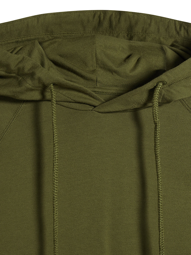 Light Fleece Hooded Sweatshirt in Beech