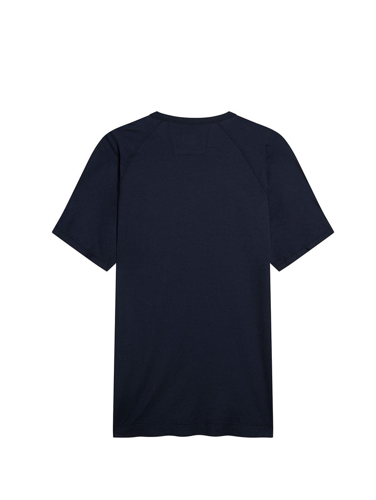 Light Jersey Logo Print Crew T-Shirt in Total Eclipse