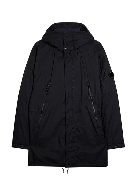 Nyfoil Down Padded Long Jacket in Total Eclipse