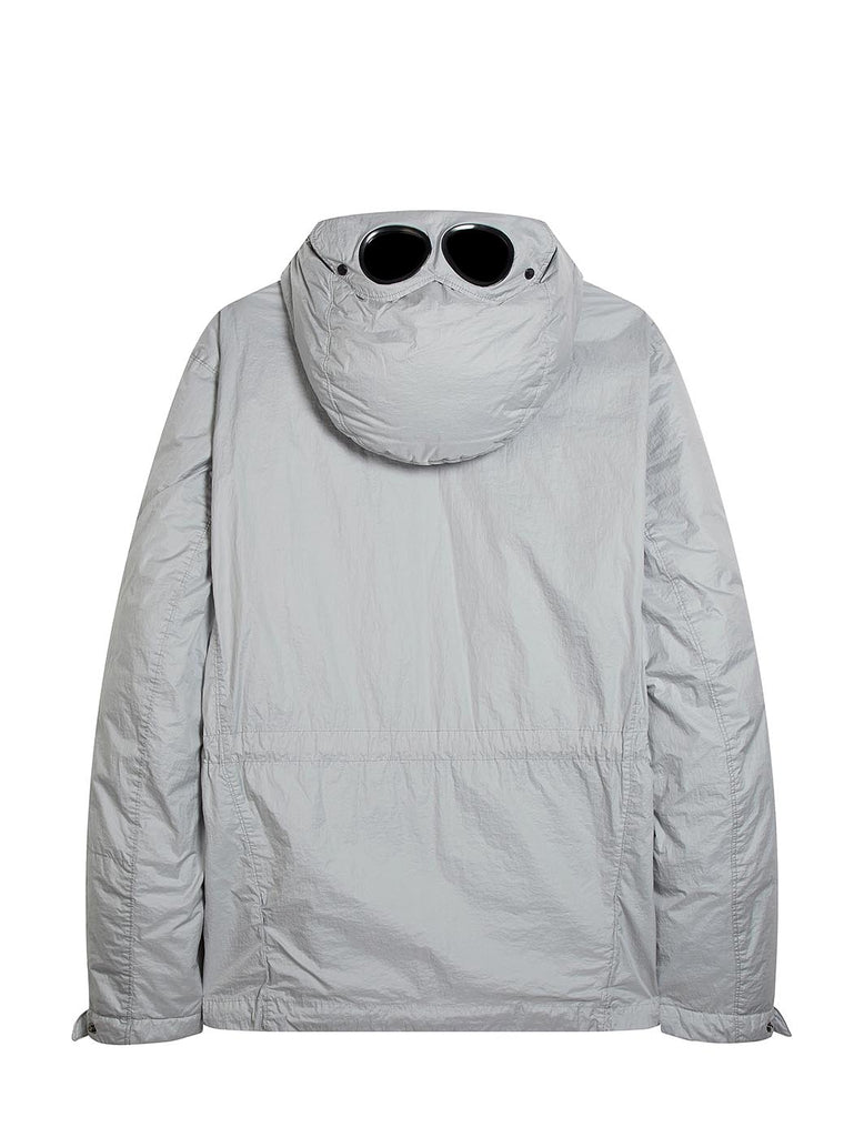 Nyfoil Goggle Hooded Watchviewer Jacket in Gauze White