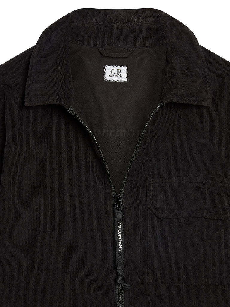 Corduroy Overshirt in Black