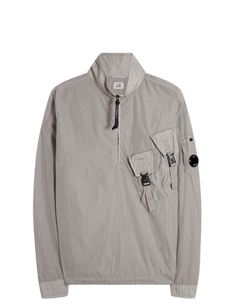 Chrome Lens Pullover Overshirt in Quiet Grey