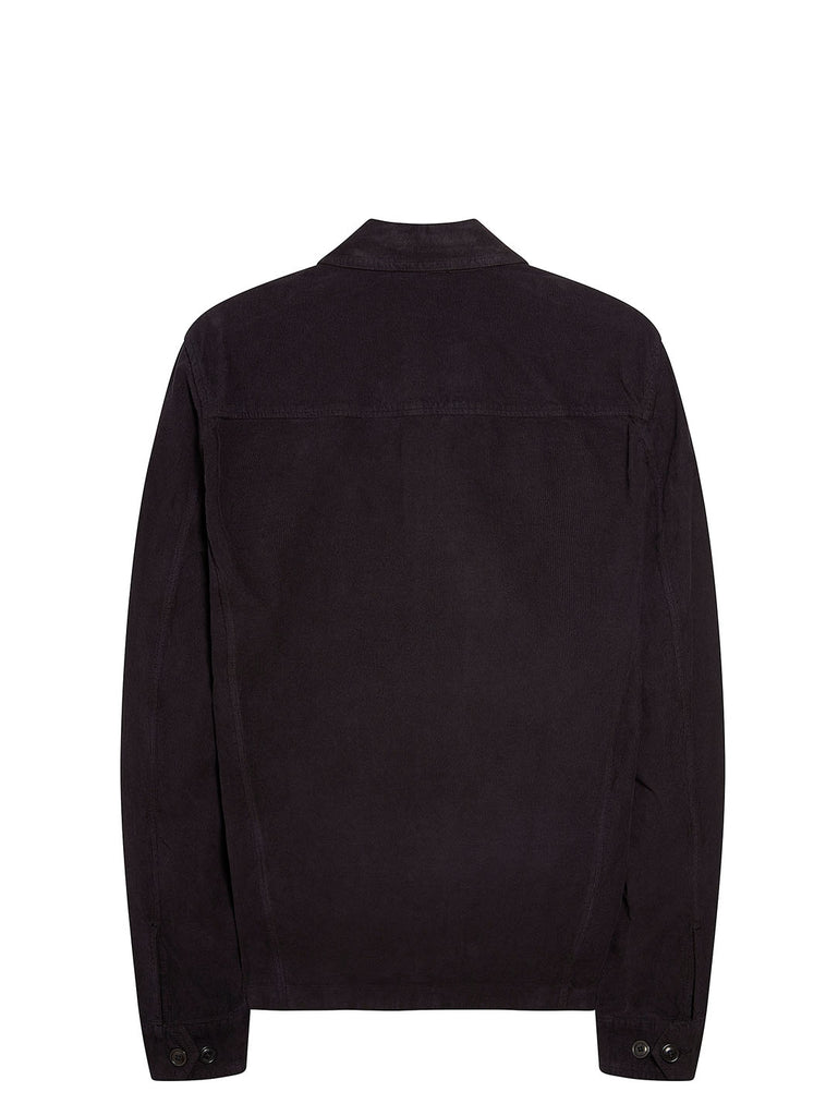 Garment Dyed 500S Corduroy Overshirt in Total Eclipse