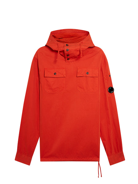 Gabardine Hooded Overshirt in Pureed Pumpkin