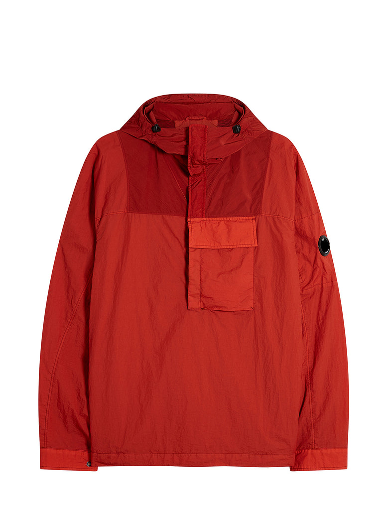 Taylon L Quarter Zip Lens Hoodie in Pompeian Red