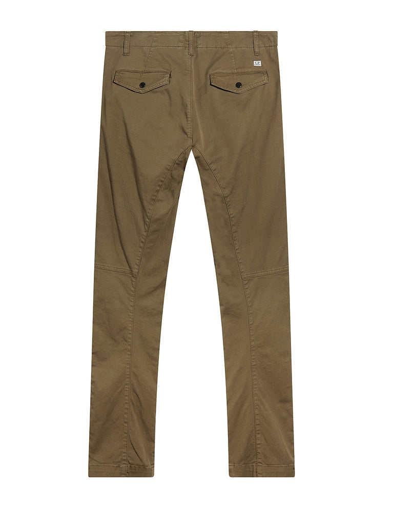 Garment Dyed Stretch Gabardine Front Pocket Trousers in Beech