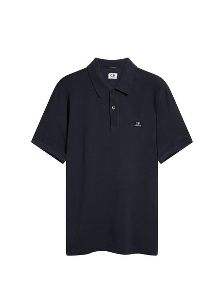 Cotton Piquet Polo Shirt in Total Eclipse