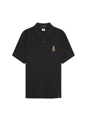 Piquet 24/1 Comics and Cars Polo in Black