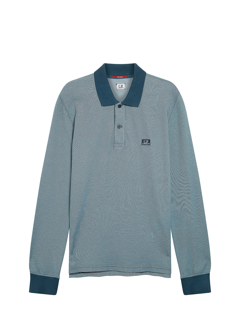 Long Sleeve Tacting Piquet in Dark Denim