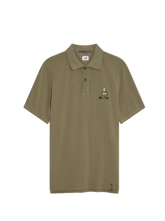 Piquet 24/1 Comics and Cars Polo in Dusty Olive