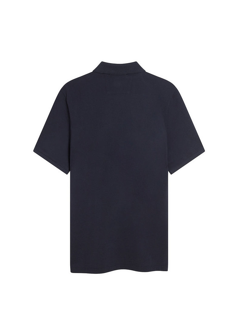 Stretch Piquet Polo Shirt in Total Eclipse