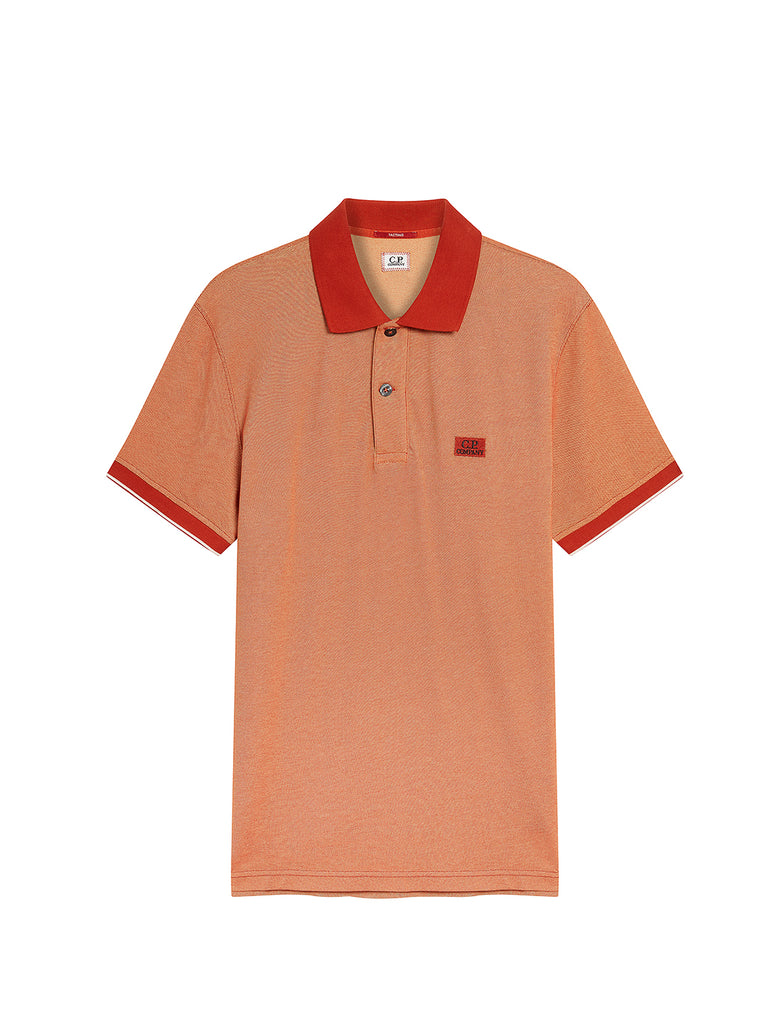 Garment Dyed Tacting Piquet Polo Shirt in Pureed Pumpkin