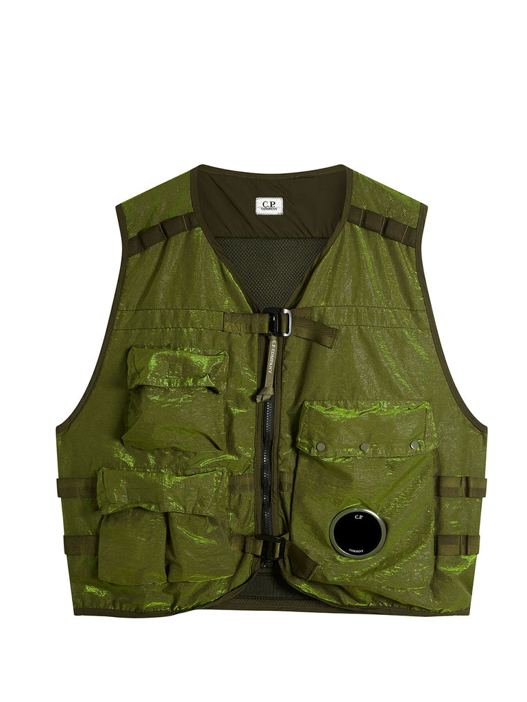 P.Ri.S.M. Front Lens Utility Vest in Yellow