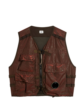 P.Ri.S.M. Front Lens Utility Vest in Red