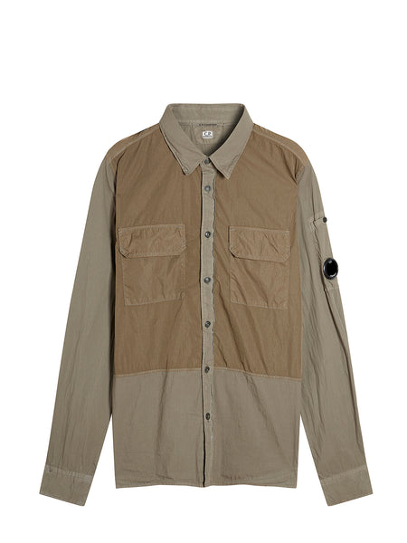 50 Fili Mixed Shirt in Dusty Olive