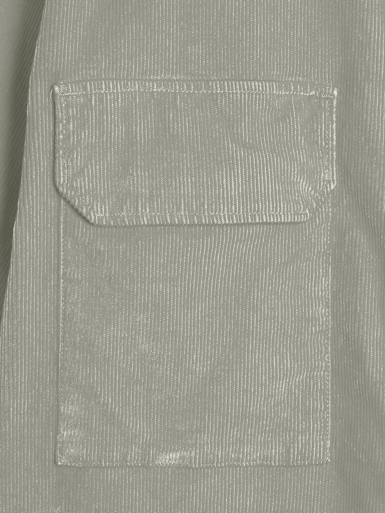 Old Dyed Stretch Corduroy Lens Shirt in Quiet Grey