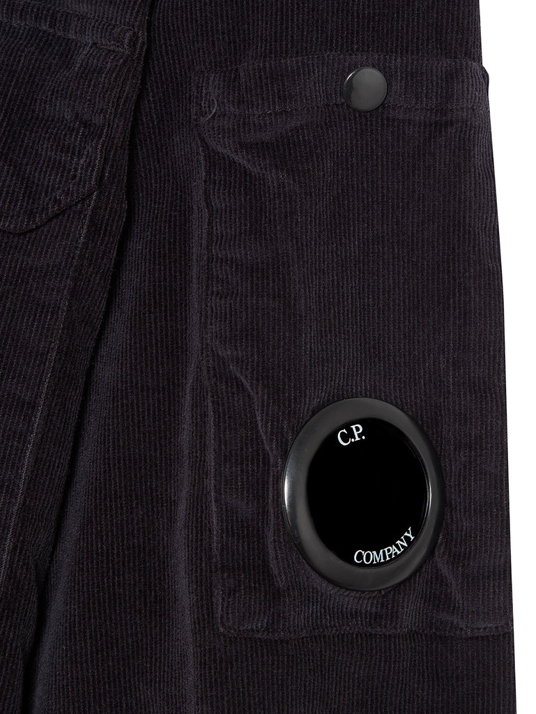 Corduroy Lens Sleeve Overshirt in Total Eclipse